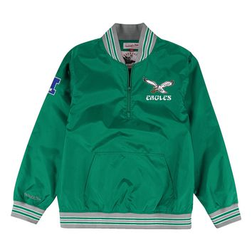 1/4 Zip Nylon Pullover Philadelphia Eagles