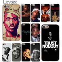 Lavaza 2Pac Tupac Shakur Hard Phone Cover Case for Apple iPhone 10 X 8 7 6 6s Plus 5 5S SE 5C 4 4S Coque Shell