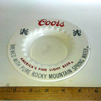 Vintage Coors Beer Ashtray From Golden Colorado