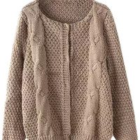 Solid Knit Ribbed Cardigan