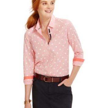 Tommy Hilfiger Printed Button-Down Shirt | macys.com