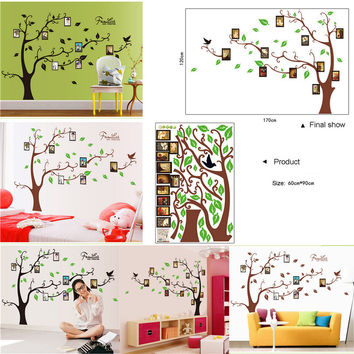 Large size DIY Photo Frame Tree Vinyl Removable Decal for Home Bedroom Living Room Decor Art Mural PVC Wall Stickers Wall Poster