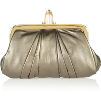 Christian Louboutin - The Mini Loubi Lula metallic leather clutch