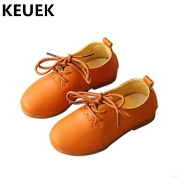 Spring/Autumn Flats Children Leather Shoes Baby Casual Sneakers Boys Girls Soft bottom Breathable Single shoes Kids Oxfords 04