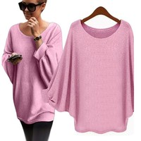 Knitted Pullover Loose Women Sweater