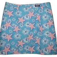 Vinyard Vines Womens Short Wrap Style Beach M Medium Starfish Flowers Skirt