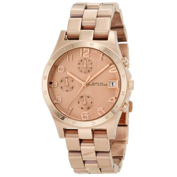 Marc by Marc Jacobs MBM3074 Women's Rose Gold Tone Stainless Steel Chronograph Watch