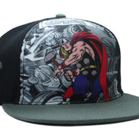 Marvel Thor Comic Collage Snap-back Cap for Adults