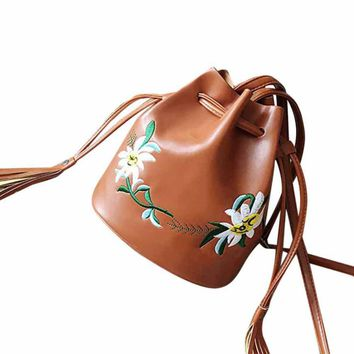 Designer Bucket Leather Bag