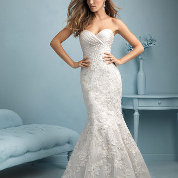 Allure Bridals 9216 Fit and Flare Wedding Dress