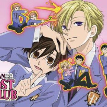 Ouran High School Host Club: Chibi Club Anime Wall Scroll