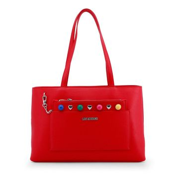 Love Moschino Red Synthetic Leather Shoulder Bag