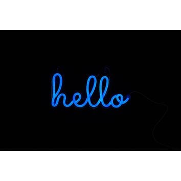 hello LED Neon Wall Sign