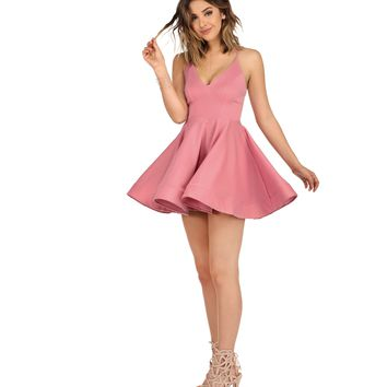 Pink Cotton Candy Banded Hem Dress
