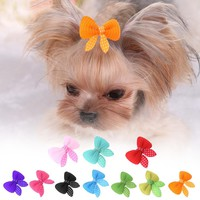 Cute Dog Hair Bow Clip