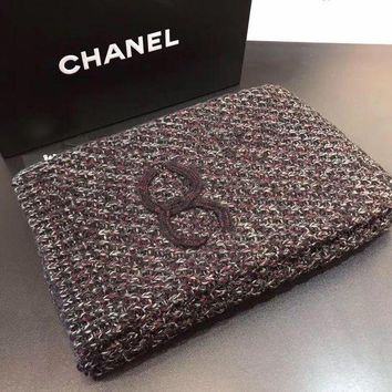 LMFUP0 Chanel Women Cashmere Warm Winter Knit Cape Scarf Scarves3