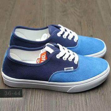 Vans Fashion Casual Classic Canvas Leisure Shoes Blue G-A0-HXYDXPF