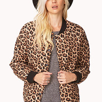 Quilted Leopard Bomber Jacket