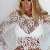 Buy Mae Lace Top Online by SABO SKIRT