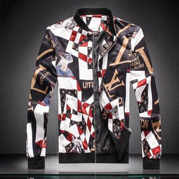 MDIGON Men Louis Vuitton Cardigan Jacket Coat