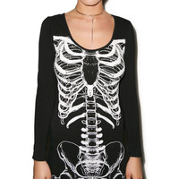 Iron Fist Them Bones Dress Black