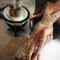 Dress Gold Sequine
