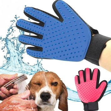 PET Dog Hair Brush Comb Glove For Pet Cleaning Massage Grooming Supply Glove For Animal Finger Cleaning Cat Hair Glove