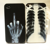 X-ray Skull Bone Cover Case Iphone 4/4s/5