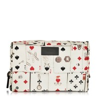 Paul Smith Designer Small Leather Goods Playing Cards Print Wash Bag