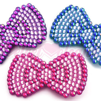 Bow Wow Super Cute & Sparkly Anywhere Clip - Kawaii Spike Stud Border Hair Accessory - Pastel Pink, Lilac, Blue or Your Custom Colours