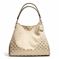 madison small phoebe shoulder bag in  op art sateen fabric