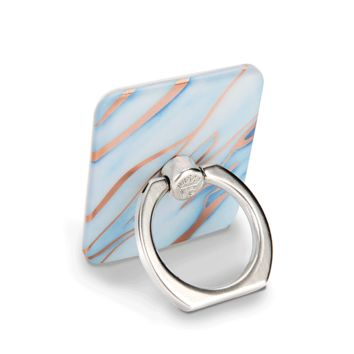 Sky Blue Rose Gold Marble Phone Ring