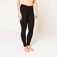 Satva Certified Organic Yoga Apparel Mantra Legging Black, Medium Pants