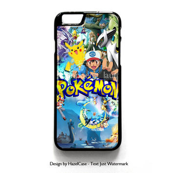 Pokemon Pikacu for iPhone 4 4S 5 5S 5C 6 6 Plus , iPod Touch 4 5  , Samsung Galaxy S3 S4 S5 Note 3 Note 4 , and HTC One X M7 M8 Case Cover