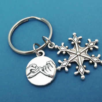 Snowflake, Promise, Keychain, Anna, Elsa, Frozen, Promise, Snow, Key chain, Key ring, Key, Chain, Gift, Jewelry, Accessories
