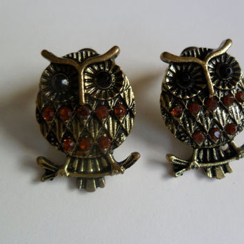 Owl earrings, Owl jewelry, owl stuff, free shipping