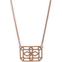 Rose Gold Petite Deco VIII Pendant Necklace