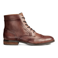 H&M Brogue-patterned Boots $59.99