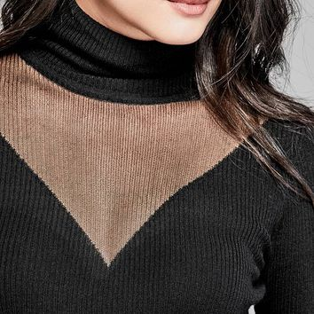 Turtleneck Sweater Top at Guess