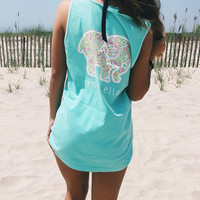 Chalky Mint Palm Fronds Tank