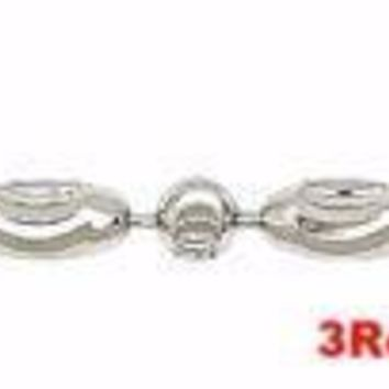 """18k white gold layered over .925 sterling silver moon cut chain 2.2 mm 18 """""""
