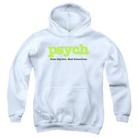 PSYCH/TITLE-YOUTH PULL-OVER HOODIE - WHITE -