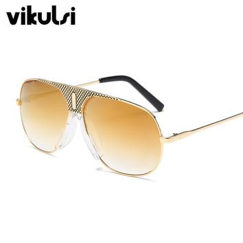 Pilot Sunglasses Women Vintage Retro Aviation Sunglass Female Steampunk Goggles Mirror Sun Glasses Male UV400 Gold Clear Eyewear