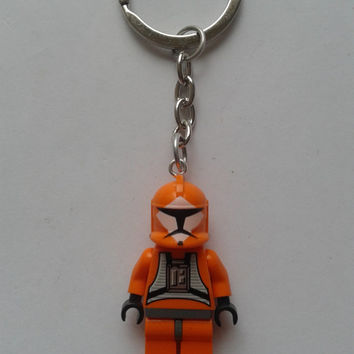 Star Wars Squad Trooper minifigure keychain keyring made with LEGO® bricks