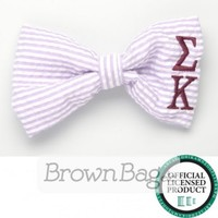 Sigma Kappa Sorority Seersucker Bows