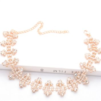 New fashion jewelry sexy single-layer diamond necklace necklace