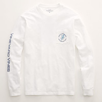 Long-Sleeve Sailfish Compass Pocket T-Shirt