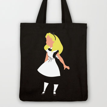 Alice in Wonderland Tote Bag by Adrian Mentus