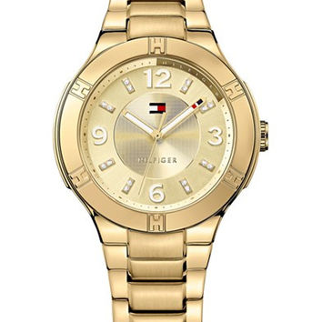 Tommy Hilfiger Women's Gold Ion-Plated Stainless Steel Bracelet Watch 39mm