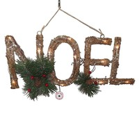 St. Nicholas Square ''Noel'' Light-Up Marquee Christmas Wall Decor